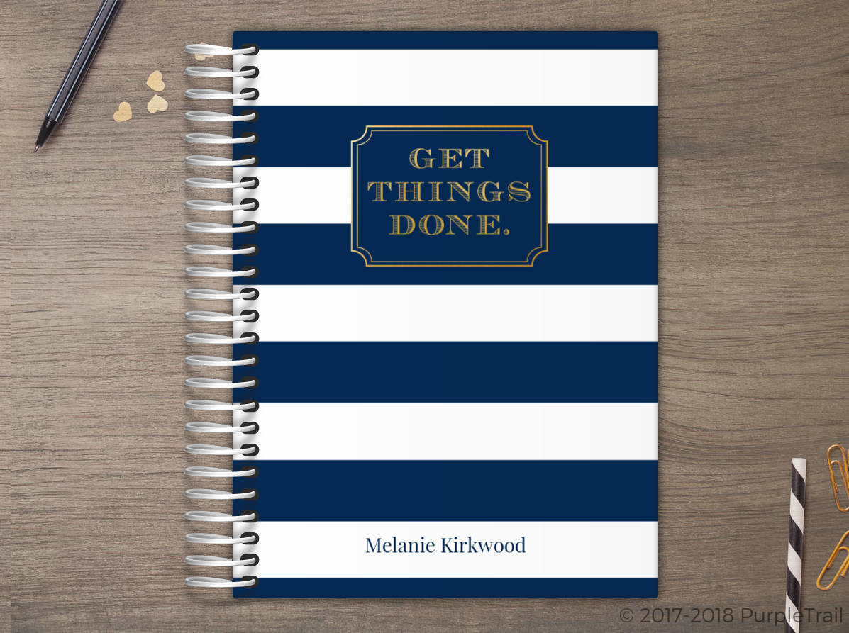 Get Things Done Stripes Meal Planner