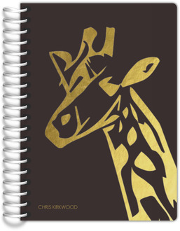 African Giraffe Silhouette Tiny Planner