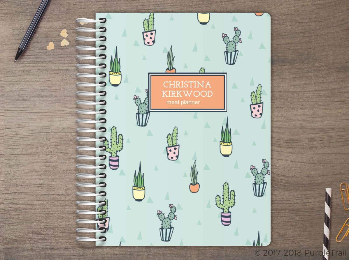 Cactus Pattern Meal Planner