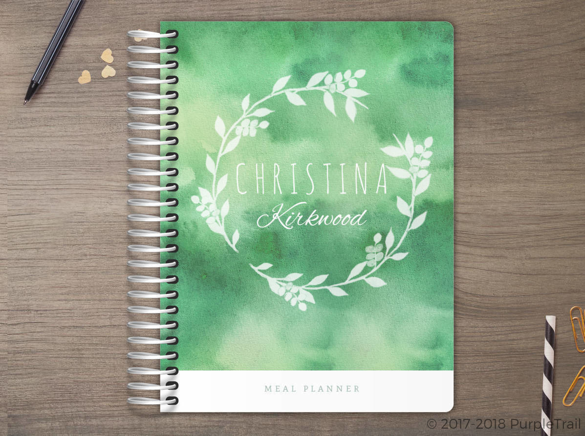 Greenery Watercolor Meal Planner