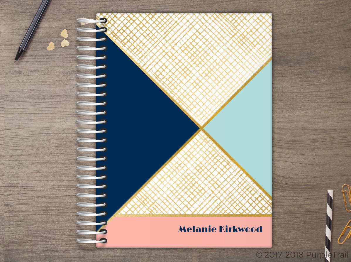 Gold Geometric Pattern Meal Planner