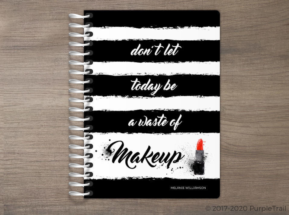 Black & White Makeup Tiny Planner