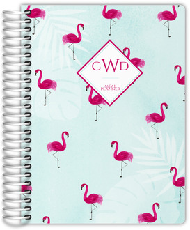 Tropical Watercolor Flamingo Pattern Meal Planner