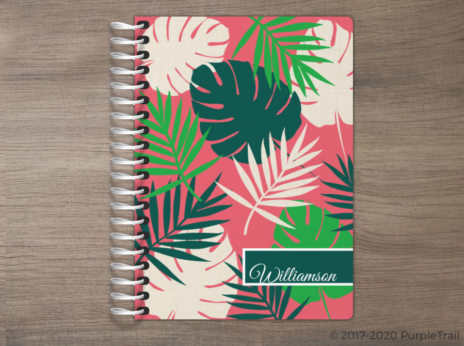 Tropical Palm Print Tiny Planner