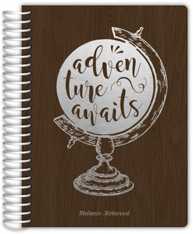 Faux Foil Adventure Globe Daily Planner