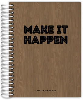 Woodgrain Make It Happen Weekly Planner