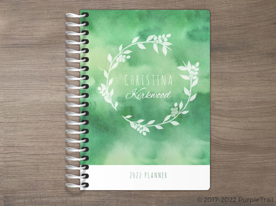 Greenery Watercolor Tiny Planner