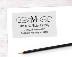 Fancy Initial Address Label