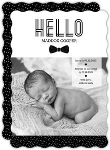 Hello Gentleman Bow Tie Adoption Announcement