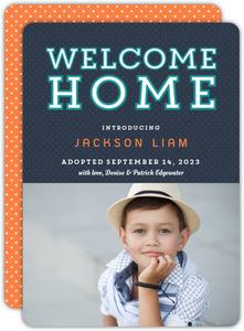 Polka Dot Welcome Home Adoption Announcement