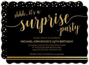 It's A Surprise 75th Birthday Invitation