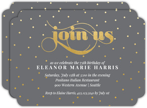 Celebration Dots 75th Birthday Party Invitation