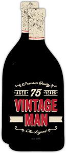 Vintage Man Bottle 75th Birthday Invitation