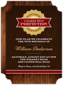 Vintage Perfection 75th Birthday Invitation