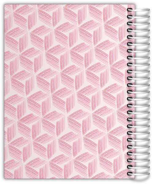 Pink Geometric Watercolor Pattern Weekly Planner
