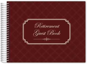 Traditional Frame Retirement Guest Book