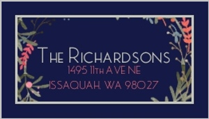 Holiday Watercolor Wreath Address Label