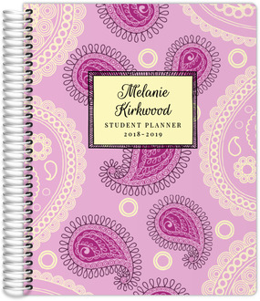 Pink Paisley Student Planner
