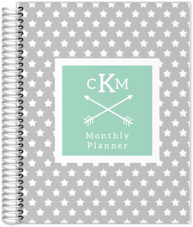 Star Spangled Monogram Custom Monthly Planner