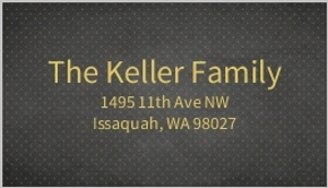 Black and Faux Gold Polka Dot Address Label
