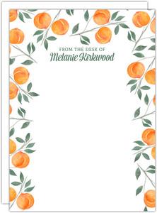 Watercolor Peach Correspondence Card