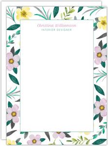 Purple Watercolor Floral Correspondence Card