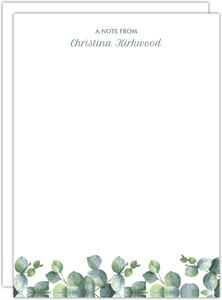 Greenery Watercolor Foliage Correspondence Card