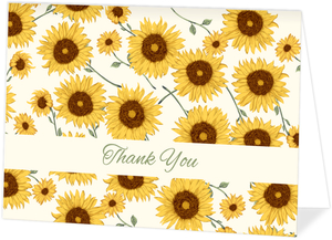 Decorative Sunflower Thank You Card