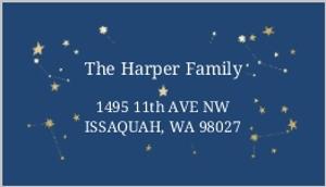 Festive Star Costellations Address Label