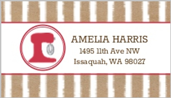 Baker Cookie Address Label