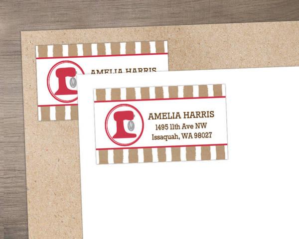 Baker Cookie Address Label