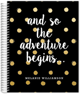 Adventure Begins Polka Dot Monthly Planner