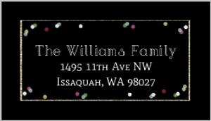 Oh What Fun Confetti Address Label