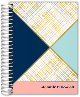 Gold Geometric Pattern Student Planner