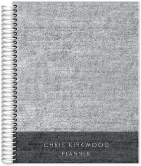 Dark Grey Denim Monthly Planner