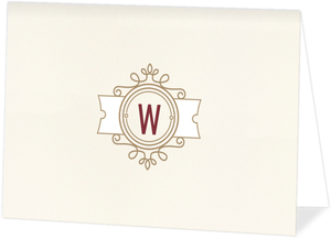 Modern Crest Folded Thank You Card