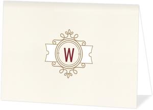 Modern Crest Folded Thank You Card