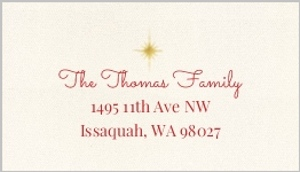 Gold Foil Wreath Merry and Bright Address Label