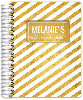 Stunning Faux Gold Stripes Wedding Planner