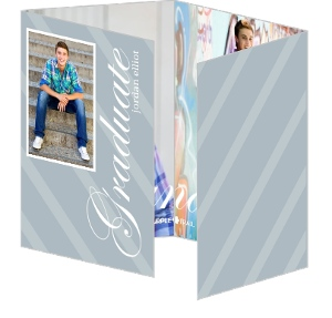 Grey Accordion Formal Graduation Invitation