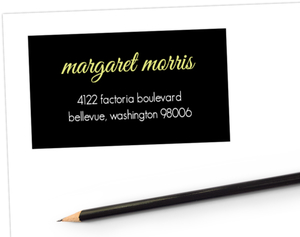 Black Multi Photo Address Label