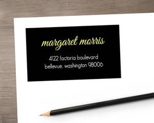 Black Multi Photo  Address Label