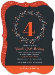 Whimsical Wreath Fall Birthday Invitation