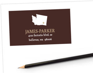 Mocha Brown Modern Statement Address Label