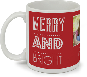 Red Modern Lettering Holiday Coffee Mug