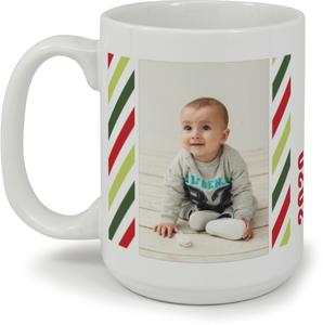 Festive Stripes Custom Mug