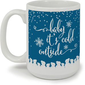 Whimsical Baby It Cold Outside Coffee Mug
