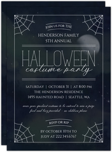 Dark Night Halloween Costume Party Invitation