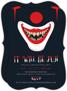 It Will Be Fun Halloween Party Invitation