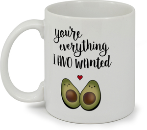 Cute Avocado Couple Custom Mug